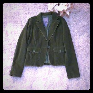 Distressed green blazer